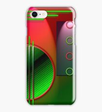 #59 Abstract Digital Art; circles & lines. iPhone Case/Skin