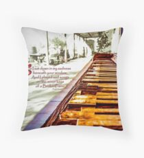 Broken Piano highlights Throw Pillow