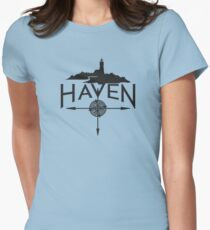 Haven Black Logo Women's Fitted T-Shirt
