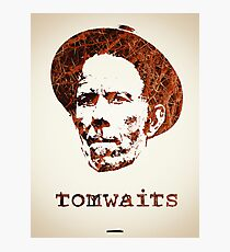 Icons - Tom Waits Photographic Print