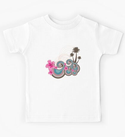 Tropical Waves & Fuchsia Pink Hibiscus Kids Clothes
