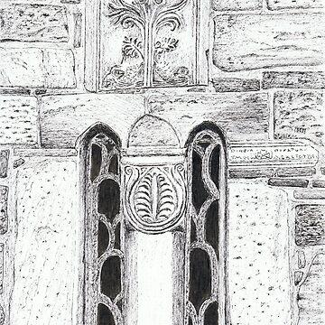 Church windows and stone work by Rodart247