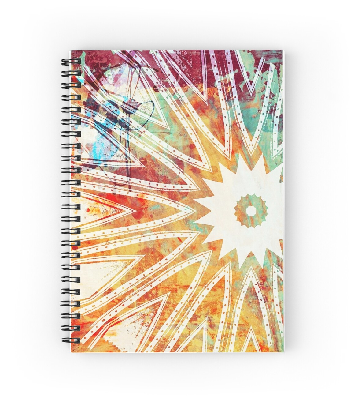 grunge kiss spiral notebooks by heaven7 redbubble. Black Bedroom Furniture Sets. Home Design Ideas