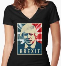 Boris Johnson Brexit Women's Fitted V-Neck T-Shirt