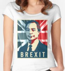Nigel Farage Brexit Women's Fitted Scoop T-Shirt