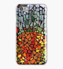 RECYCLED GLASS MOSAIC - Orange, green, mother of pearl. iPhone Case/Skin