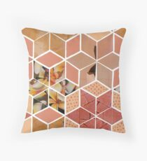 Apricot Tiling Throw Pillow
