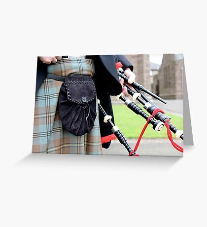 The Skirl of the Pipes Greeting Card