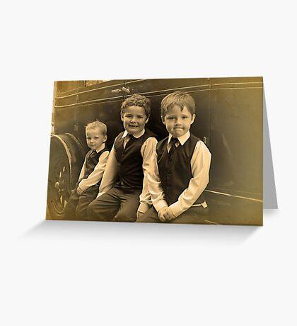 The Runner Boys Greeting Card