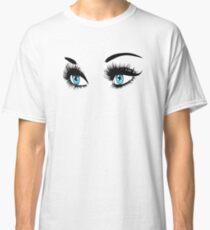Blue eyes with long eyelashes  Classic T-Shirt