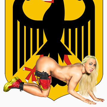 German Flag Pin Up by MilitaryPinups