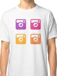 Insta Sunset Cameras Pattern Classic T-Shirt