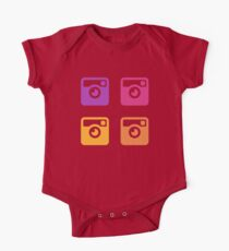 Insta Sunset Cameras Pattern Kids Clothes