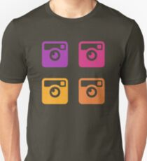 Insta Sunset Cameras Pattern Unisex T-Shirt