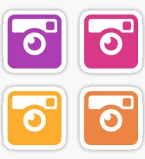Insta Sunset Cameras Pattern Sticker