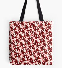 Simple Red Double Happiness In A Tilt Pattern, A Traditional Oriental Auspicious Symbol  | Modern Chinese Wedding  Tote Bag