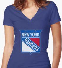New York Rangers  Women's Fitted V-Neck T-Shirt
