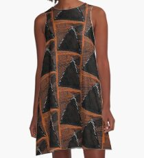 African Inspired Print A-Line Dress