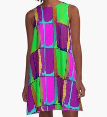 Neon Art A-Line Dress
