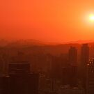 Seoul With a Red Sky by Mike Ashley