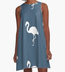Flamingo Blue A-Line Dress