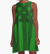 The grass and stripes A-Line Dress