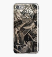 Black and opal paint texture iPhone Case/Skin