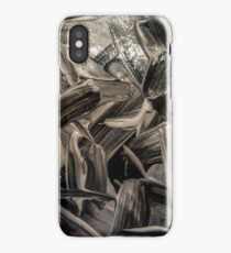 Black and opal paint texture iPhone Case
