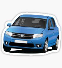 Dacia Sandero - blue - illustration Sticker