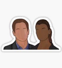 Tony and Ziva sketch Sticker
