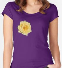 Yellow Rose on Purple Women's Fitted Scoop T-Shirt