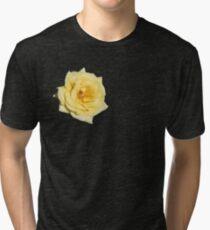 Yellow Rose on Purple Tri-blend T-Shirt