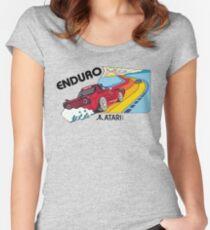 ATARI ENDURO- CLASSIC CARTRIDGE LABEL Women's Fitted Scoop T-Shirt