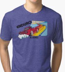 ATARI ENDURO- CLASSIC CARTRIDGE LABEL Tri-blend T-Shirt