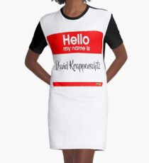 Hello My Name Is David Krappenschitz Graphic T-Shirt Dress