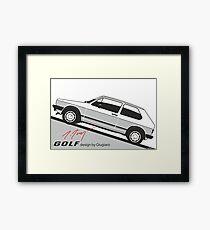VW Golf by Giugiaro Framed Print