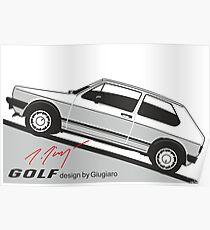 VW Golf by Giugiaro Poster