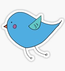 Bluebird of Happiness Flying Sticker