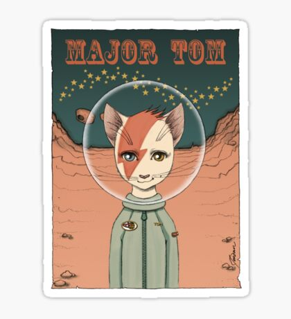Major Tom t-shirt Sticker