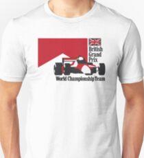 80´s MCLAREN WORLD CHAMPIONSHIP TEAM - BRITISH GRAND PRIX  T-Shirt