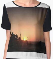 Sunset Intersection Chiffon Top