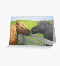 Kissing Shetlands Greeting Card