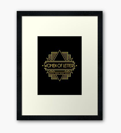 W.O.L (Art Deco) Framed Print