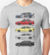 Stack of Volvo 850R 854R T5 Turbo Saloon Sedans T-Shirt