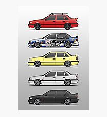 Stack of Volvo 850R 854R T5 Turbo Saloon Sedans Photographic Print