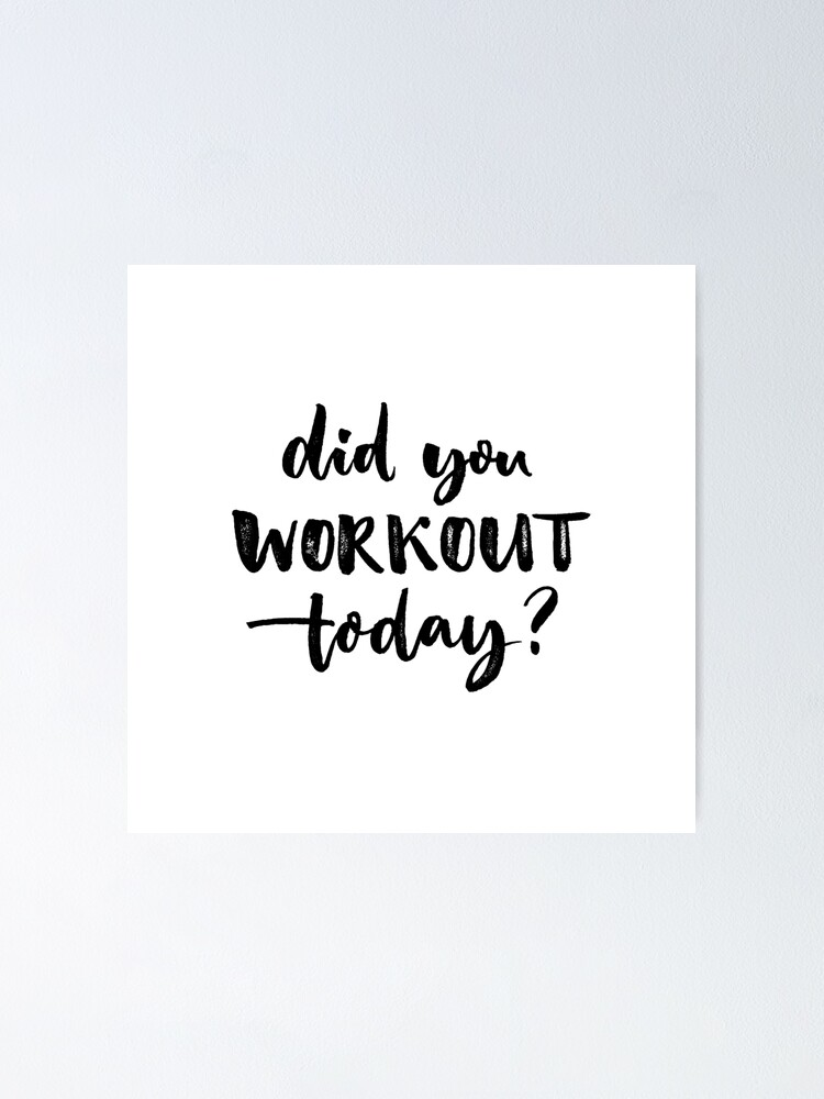 Sport Quote Fitness Motivation Poster