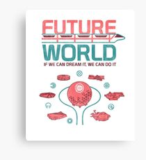 Zukünftige Weltkarte Leinwanddruck