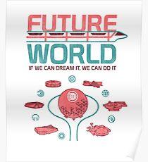 Future World Map Poster