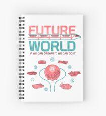 Future World Map Spiral Notebook