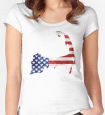 Cape Cod Patriotic Women's Fitted Scoop T-Shirt